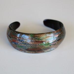 Jewelry - Glass Multi-Colored Cuff